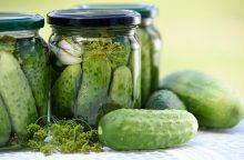 Traškiems agurkams marinuoti – ir neįprasti ingredientai <span style=color:red;>(receptai)</span>