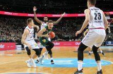 """LKL mūšis Kaune: emocingame derbyje – aptrupėjusio """"Žalgirio"""" pergalė"""