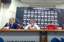 Žurnalistus auklėjęs Šaras apie arbitrus Maskvoje: atliksime savo darbą už aikštės