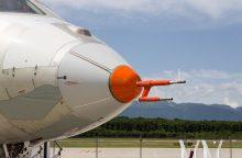Kam skirtas ant lėktuvų nosių matomas vamzdis?