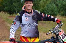 Motociklininkas A. Gelažninkas trečiajame Merzugos ralio etape – 29-as