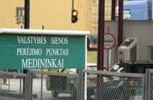 Dėl kelio remonto Baltarusijoje – galimi eismo ribojimai Medininkų pasienio punkte