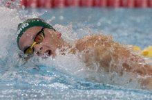 Plaukikas D. Rapšys Rumunijoje pagerino Lietuvos rekordą