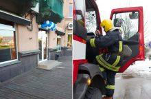 Per gaisrą Kauno bare nukentėjo du Kinijos piliečiai