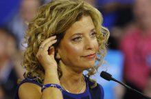 Skandalas dėl elektroninių laiškų: atsistatydina JAV demokratų pirmininkė