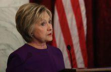 H. Clinton: reikia kovoti su iškraipytų naujienų epidemija