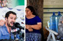 Italijos migracijos politika kelia diskusijų: norima suregistruoti romus