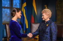 Susitikime su Švedijos Princese – dėmesys gynybai ir saugumui