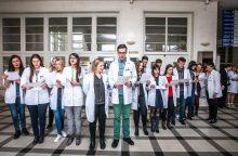 Jaunieji medikai užtvindys Laisvės alėją