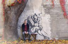 Istorinę Kauno gatvę papuošė dar vienas meno kūrinys