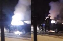 Šiaulių daugiabučio kieme susprogdintas automobilis