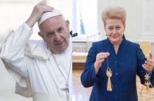 D. Grybauskaitė: popiežiaus vizito patvirtinimo laukiama gruodį