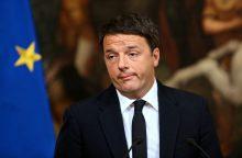 Italijos premjeras postą paliks tik priėmęs biudžetą