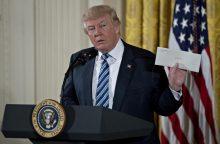 D. Trumpas apie B. Obamos paliktą laišką: mes jį branginsime