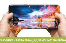 """""""Samsung Galaxy Note 7"""" nesėkmė – galimybės konkurentams?"""