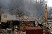 Tenesio valstijoje siaučiančių gaisrų aukų padaugėjo iki trylikos
