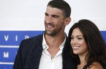 JAV olimpinis plaukimo čempionas M. Phelpsas slapta vedė