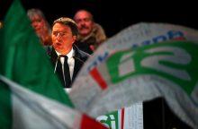Italijoje prasidėjo balsavimas konstituciniame referendume