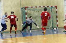 Klaipėdos salės futbolo čempionato lyderiams – vidutiniokų iššūkiai