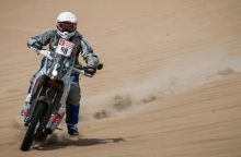 Motociklininkui B. Bardauskui gali prireikti operacijos