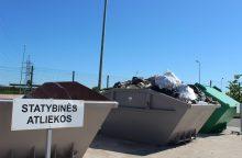 Statybines atliekas – tik ne į bendrą konteinerį