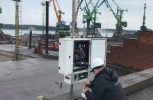 Bus stebimas oro kokybės pokytis šiaurinėje uosto dalyje
