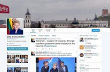 "Socialiniame tinkle ""Twitter"" – šešios D. Grybauskaitės"