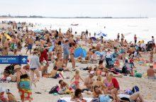 """Palangos paplūdimius planuojama """"maitinti"""" smėliu"""