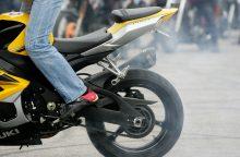 Širvintų rajone susižalojo girtas motociklininkas