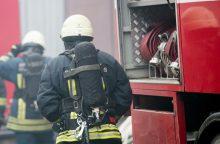 Veterinarijos akademijos garaže – nuostolingas gaisras