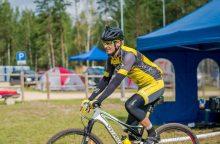 Į žygį aplink Baltijos šalis išlydimas dviratininkas G. Mukas