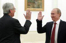 EK vadovas: vizitas Rusijoje netaps proga atšaukti sankcijas