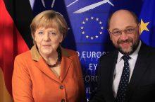A. Merkel ir M. Schulzas dalyvaus rinkiminiuose debatuose rugsėjo 3 dieną