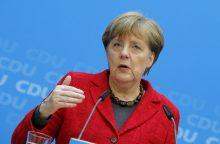A. Merkel pabrėžia gerų santykių su Rusija svarbą