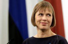 Estijos vadovė per vizitą Rygoje akcentavo NATO batalionų svarbą