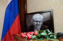 Maskvoje atsisveikinama su Rusijos ambasadoriumi prie JT