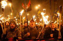 Ukrainiečių nacionalistai nuniokojo Rusijos organizacijos pastatą