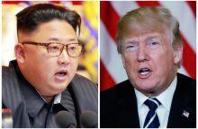 """D. Trumpas išeis iš susitikimo su Kim Jong Unu, jei jis nebus """"vaisingas"""""""