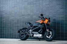 """""""Harley-Davidson"""" atskleidė savo pirmojo elektrinio motociklo detales"""