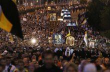Rusijoje 100 tūkst. žmonių paminėjo paskutinio caro egzekuciją