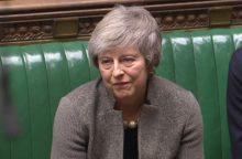 """Th. May atskleidė, kada britų parlamentas balsuos dėl """"Brexit"""""""
