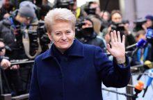 D. Grybauskaitė dalyvaus ES viršūnių susitikime