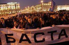 """Baltarusijos opozicija rengia """"ne veltėdžių mitingus"""""""