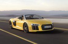 """Lietuvoje jau galima užsisakyti sportiškąjį ,,Audi R8 Spyder V10"""""""