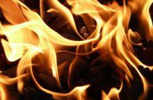 Gaisras Kretingos rajone nusinešė vyro gyvybę