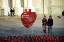 """1607 organų donorams bus uždegtos """"Gyvasties"""" žvakelės"""
