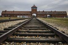 Izraelietis gavo baudą už nusišlapinimą prie Aušvico memorialo