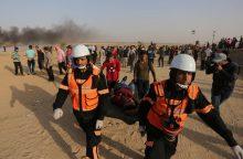 Keliasdešimt vilniečių protestavo prieš Izraelio veiksmus Gazos ruože