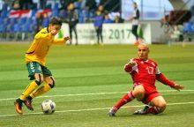 Lietuvos septyniolikmečiai Minske pranoko Gruzijos futbolininkus