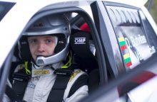 """D. Butvilas išbandė """"Škoda Fabia R5"""" ir prognozuoja žiemišką ralį Utenoje"""